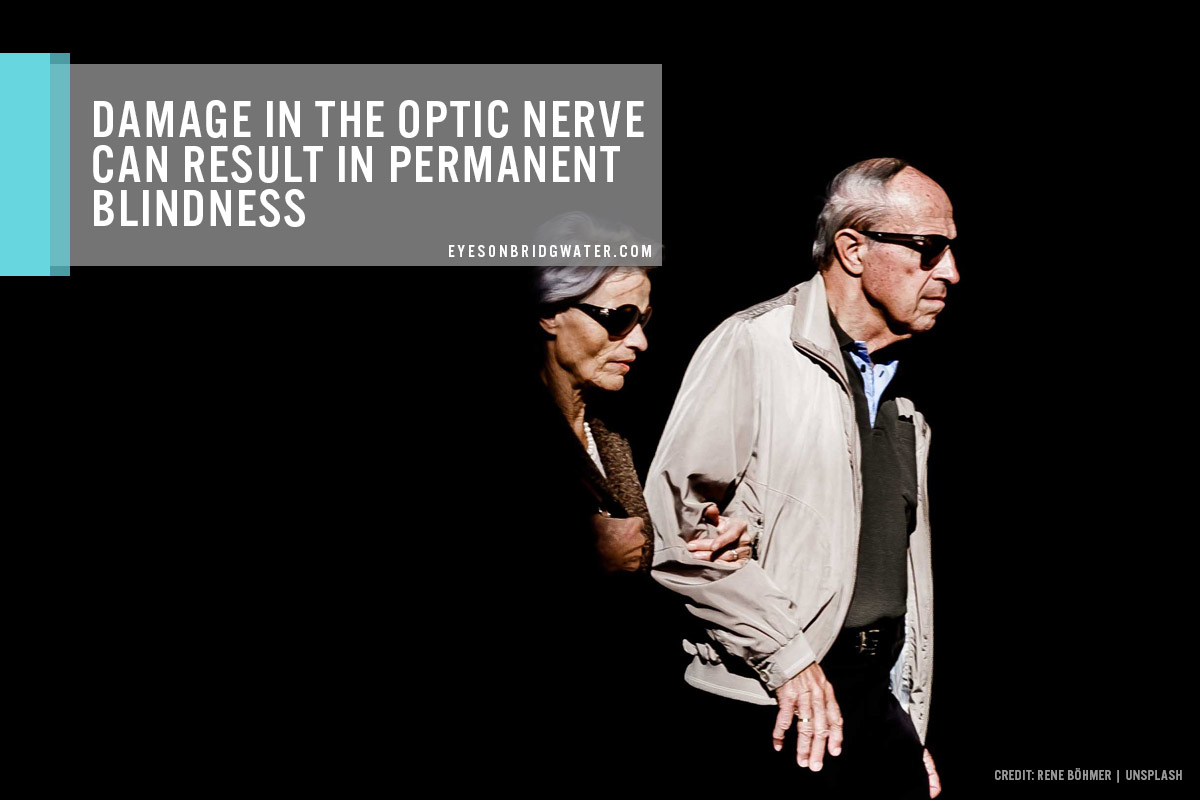 Damage in the optic nerve can result in permanent blindness