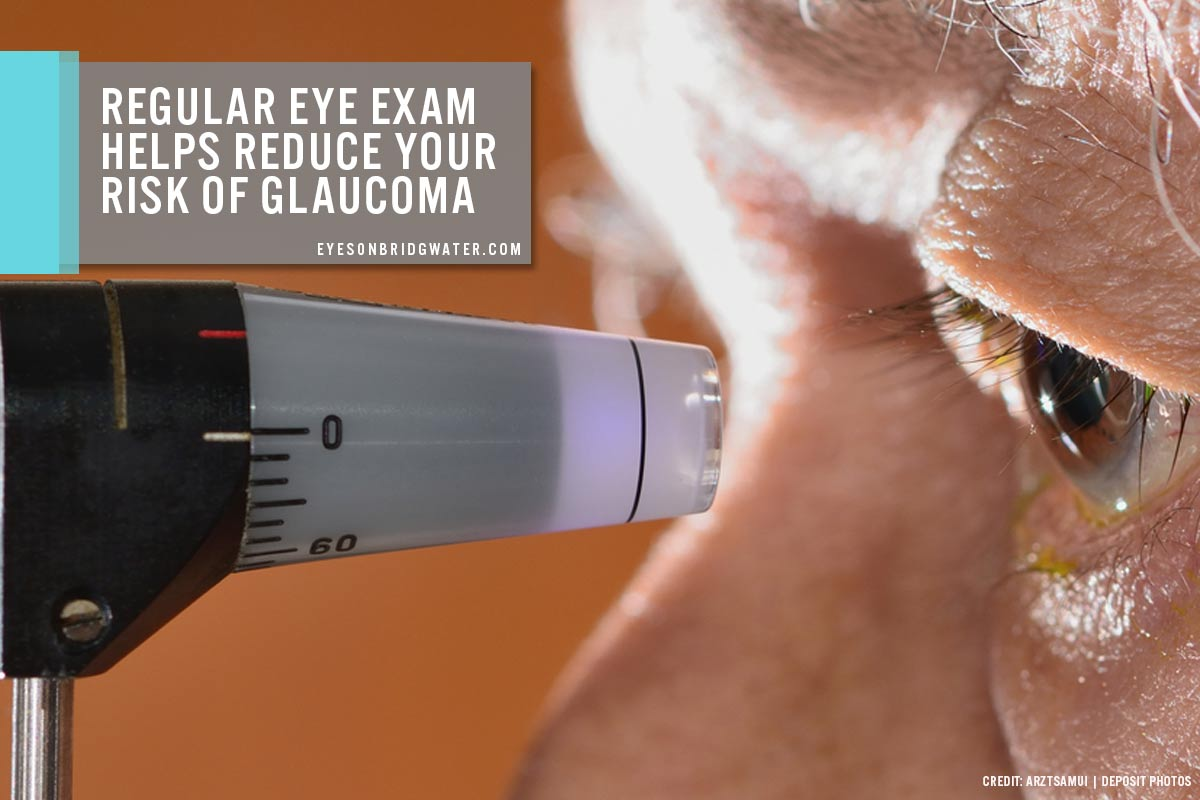 Regular eye exam helps reduce your risk of glaucoma