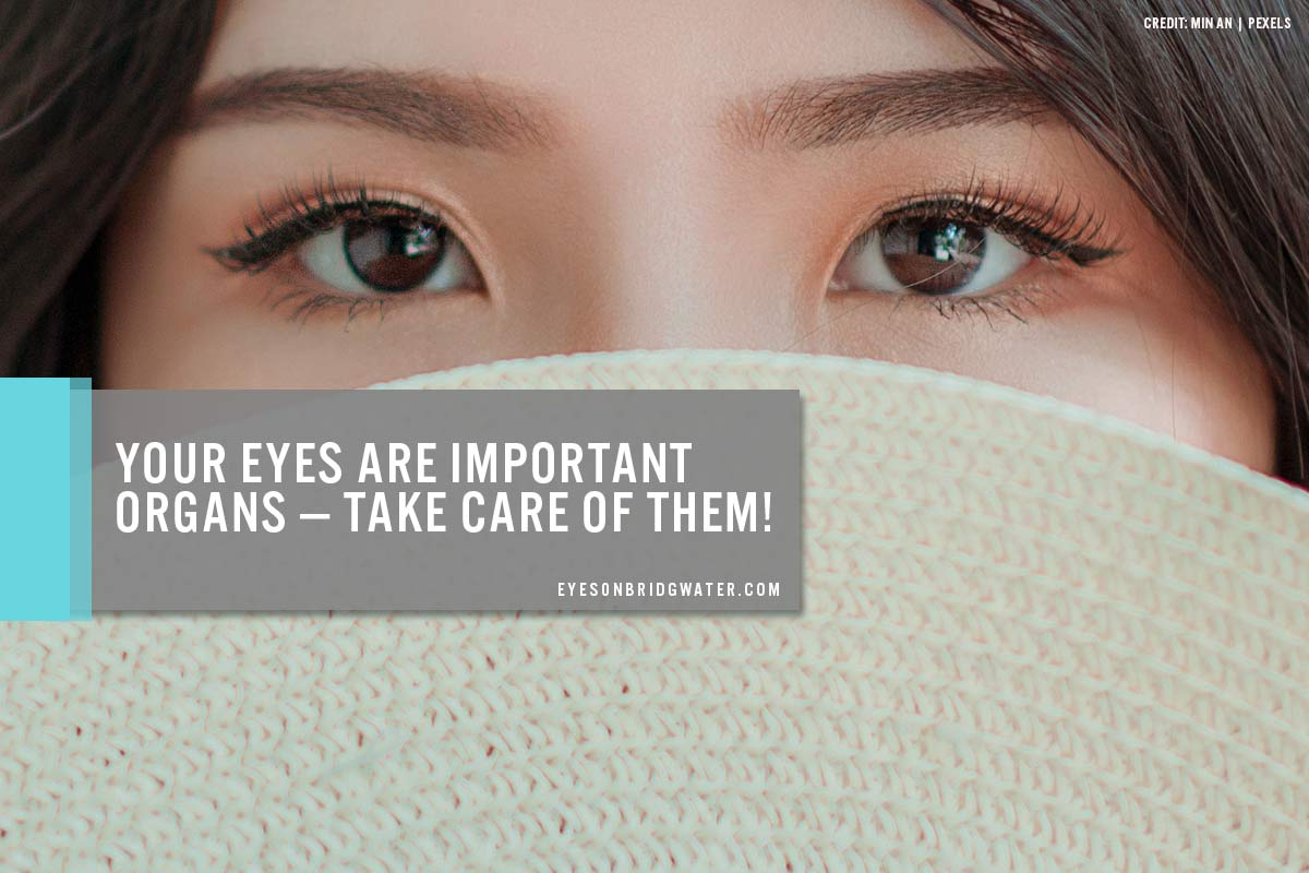 Your eyes are important organs — take care of them!